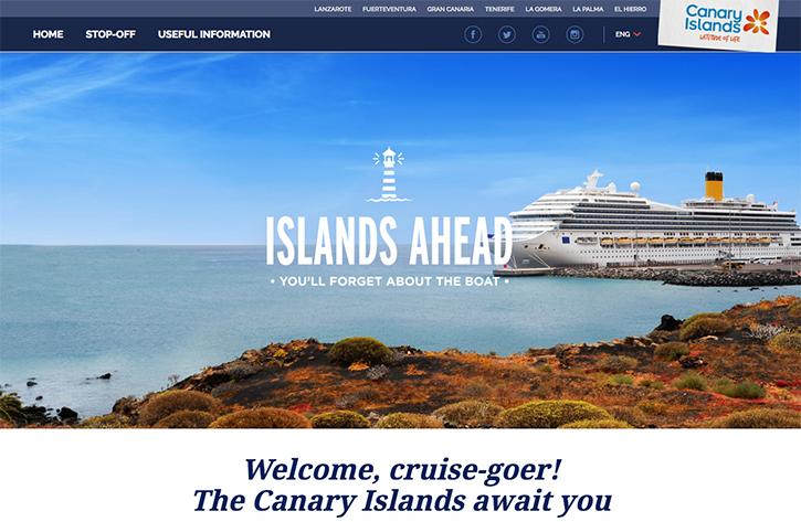 L'office du tourisme des Canaries ouvre un site dédié aux croisiéristes