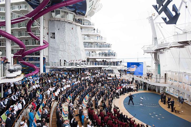 L'harmony of the Seas prêt pour sa croisière inaugurale