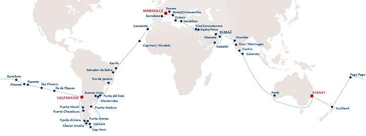 Un tour du monde de 108 jours pour le Costa Luminosa