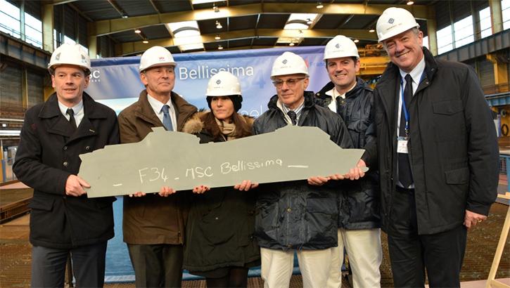 MSC Croisières: Début du chantier du MSC Bellissima