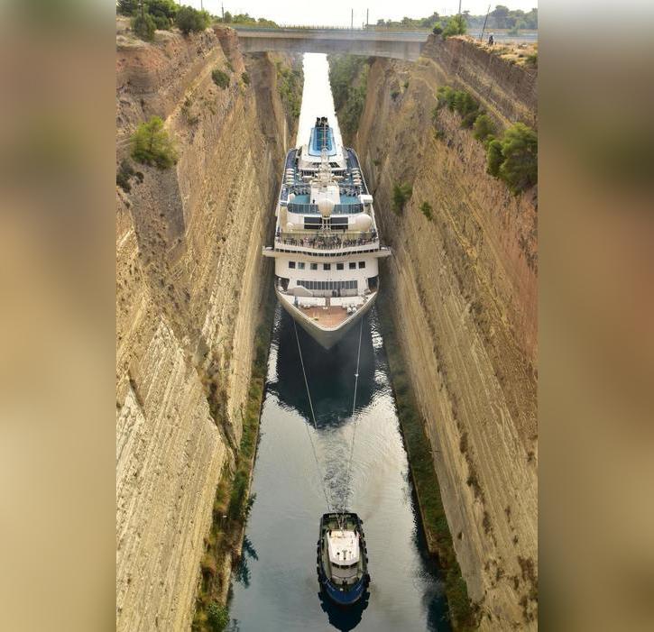 Canal de Corinthe: Le Celestyal Nefeli signe un nouveau record