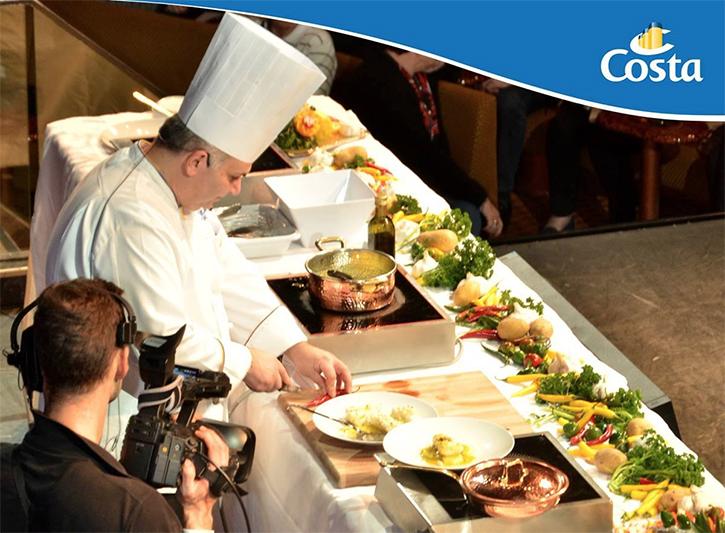 Costa croisières lance un show culinaire télévisé à bord