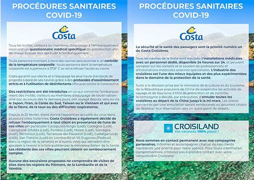 coronavirus costa croisières