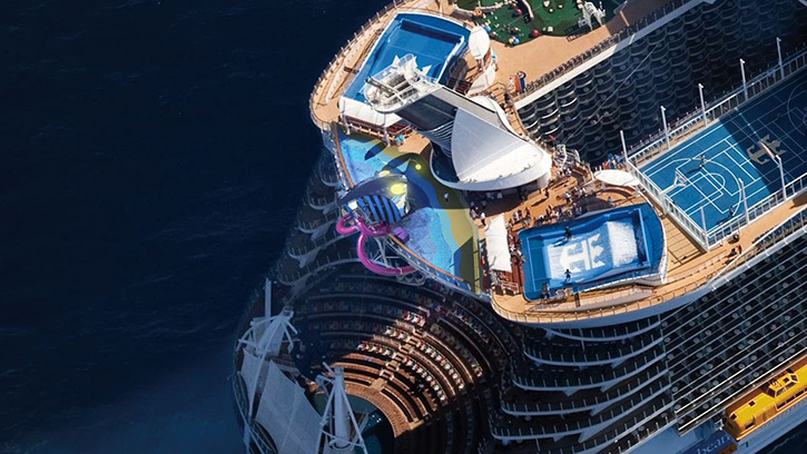 Second essai en mer réussi pour l'Harmony of the Seas