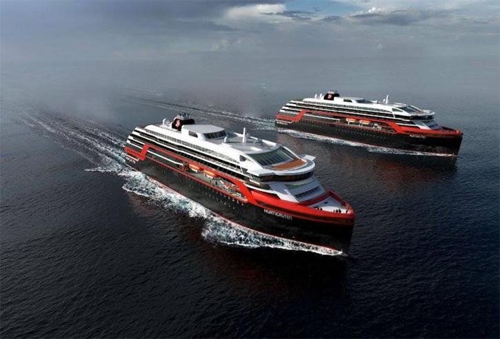 Hurtigruten dévoile le nom de ses deux nouveaux navires d'exploration
