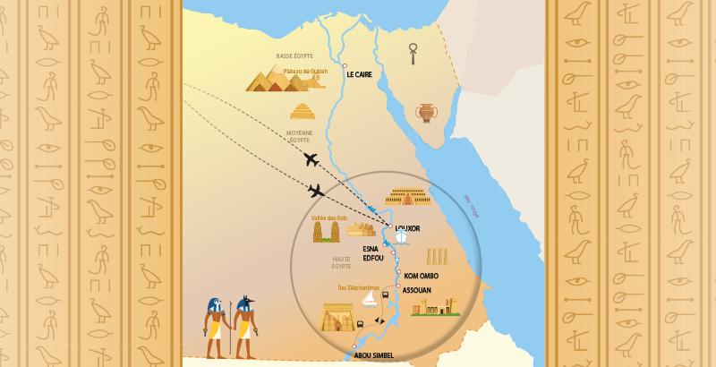 itinéraire croisière egypte