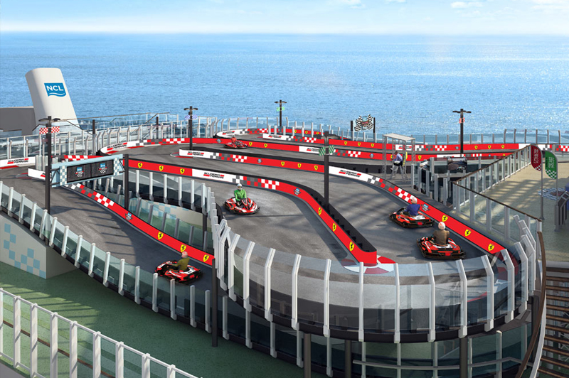 Le Norwegian Joy et la Scuderia Ferrari partenaires