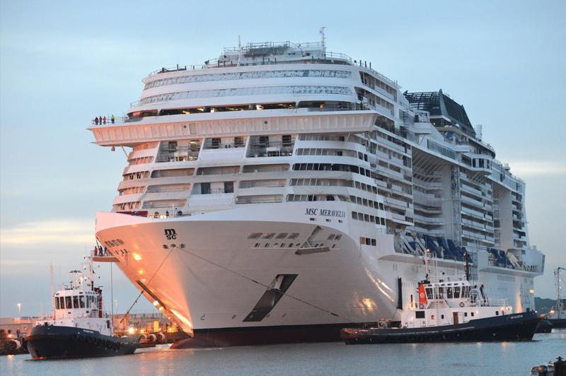 Le MSC Meraviglia débute ses essais en mer