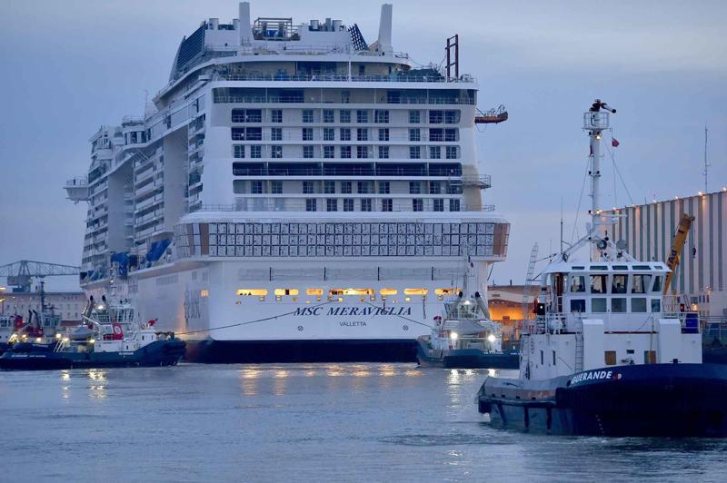 Le MSC Meraviglia a effectué son deuxième essai en mer