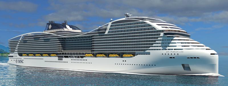 Le navire MSC Europa de MSC Croisières