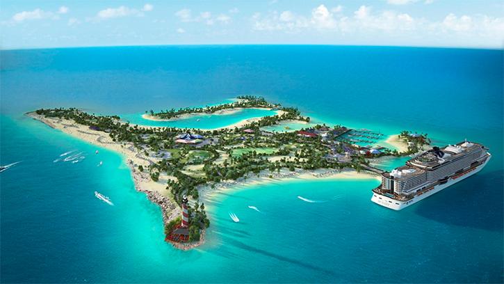 MSC Croisières annonce le début des travaux de son île privée aux Bahamas