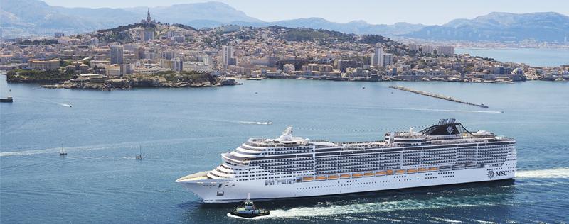 navire MSC Croisière à Marseille