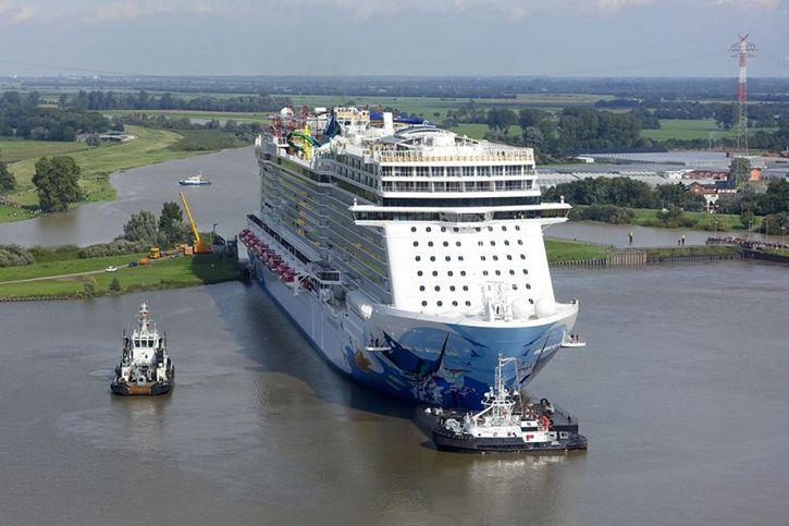 1ère navigation pour le nouveau paquebot de Norwegian Cruise Line