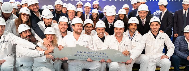 MSC Croisière cérémonie MSC Europa, premier navire de la classe World