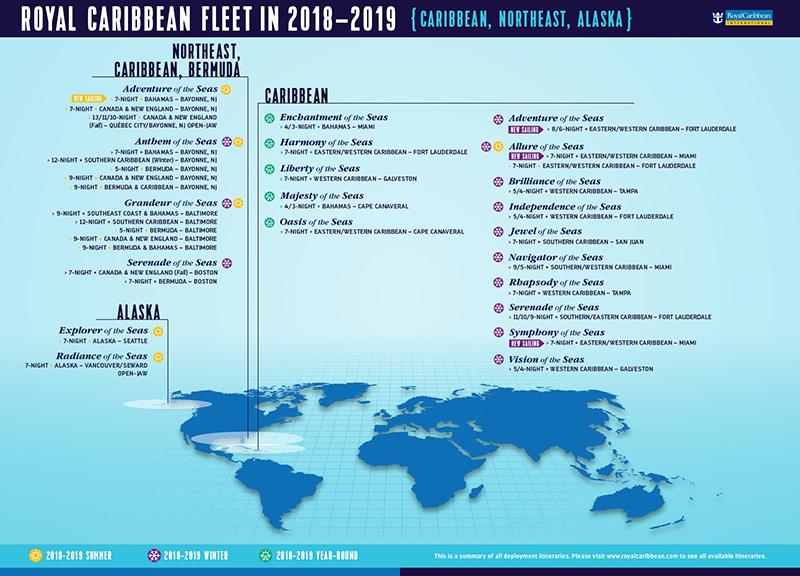 Royal Caribbean dévoile son programme 2018-2019