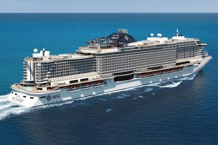 Le MSC Seaview fait son apparition en Méditerranée
