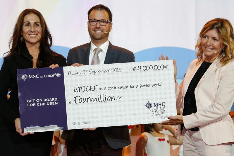 MSC Croisières : 6.5 millions d'euros pour l'UNICEF